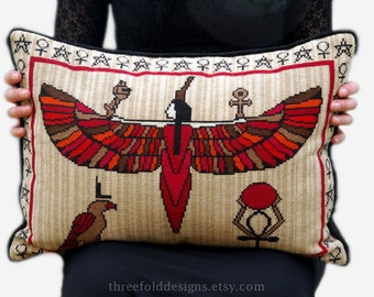SALE - Egyptian Cross Stitch Kit Isis Mythology