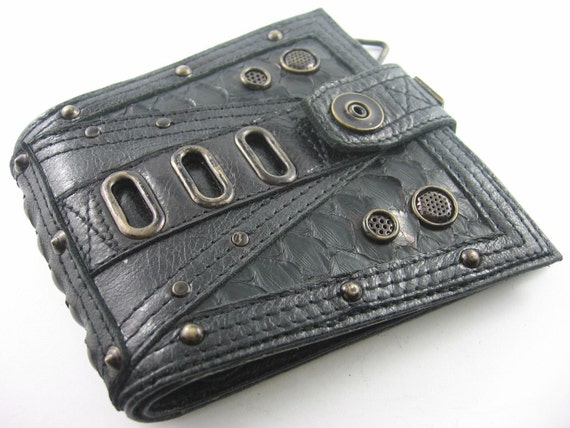 industrial patina punk wallet