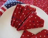 Fourth of July Holiday Stars Cloth Napkins - Set of 12-25 percent off
