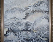 Grey Marble - Original Painting and Stenciling on Watercolour Paper