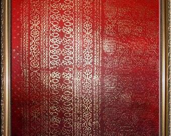 Sari 1 - Original Painting and Block Printing on Watercolour Paper