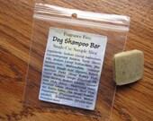Fragrance Free Dog Shampoo . Sample Slice . Solid Syndet Shampoo Bar