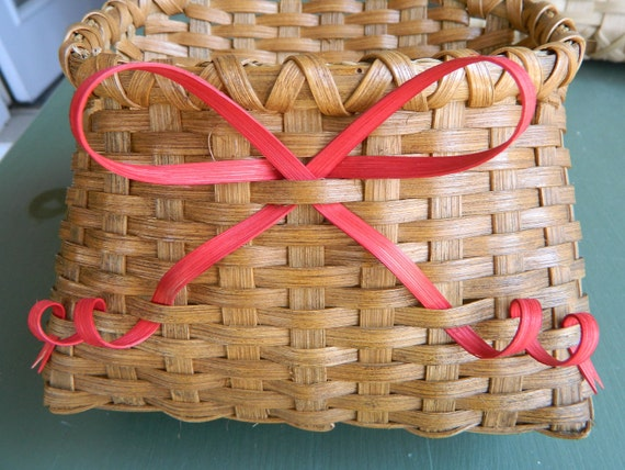 Cute Little May Day Basket with Red Bow