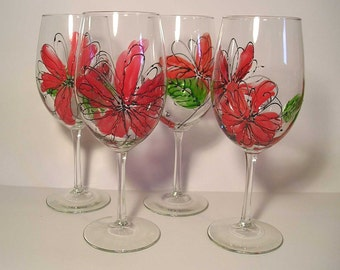 Orange Crocus White Wine Glass