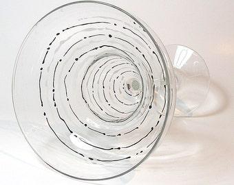 Swirl Margarita Glass
