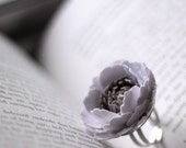 Paper Rose Ring in Snow