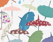 CLIP ART - Umbrella Pack I - for commercial and personal use