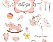 CLIP ART - Baby Girl - for commercial and personal use