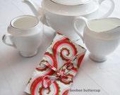 Tea Tote / Tea Wallet in Curly Swirl Pink
