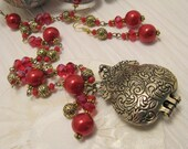 Thousand Nights and One Night Vintage style Necklace OOAK