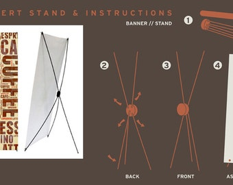 Pricing for 2'x5' Banner and Fold Up Banner Stand for Advertising Your Business