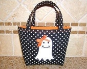 Dottie the Ghost - Baby's First Trick or Treat Tote Bag - Can Be Personalized