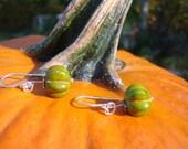 Green pumpkin earrings