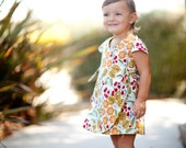 INSTANT DOWNLOAD- Iris Reversible Wrap Dress (sizes 6/12 months to 10) PDF Sewing Pattern and Tutorial