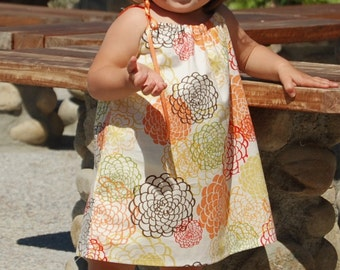 Chloe Drawstring Top Dress (Sizes 6/9 months to 6) Sewing E-Pattern and Tutorial