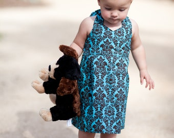INSTANT DOWNLOAD- Addison Halter Dress (Size 12/18 months to Size 6) PDF Sewing Pattern and Tutorial