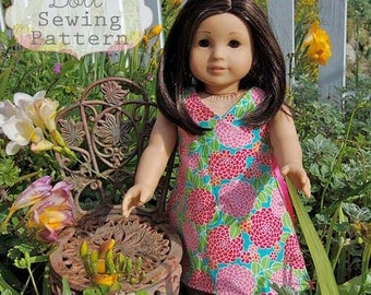 INSTANT DOWNLOAD- Kate Wrap Around Doll Dress PDF Sewing Pattern and Tutorial
