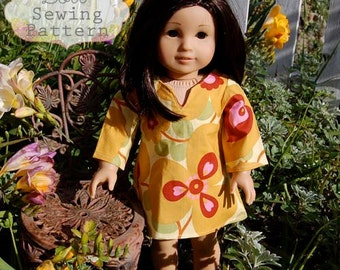 INSTANT DOWNLOAD- Sophia Doll Tunic PDF Sewing Pattern and Tutorial