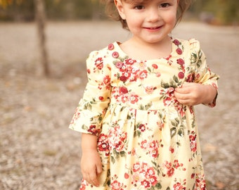 INSTANT DOWNLOAD- Ella Dress (sizes 6/12 to months to 6) PDF Sewing Pattern and Tutorial