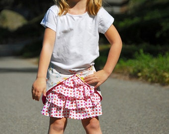 INSTANT DOWNLOAD- Mermaid Skirt (Size 6/12 months to Size 6) PDF Sewing Pattern and Tutorial