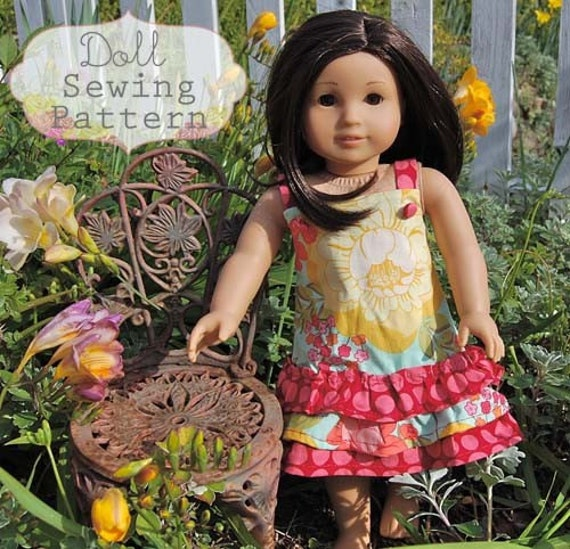 INSTANT DOWNLOAD- Hayden Doll Dress PDF Sewing Pattern and Tutorial