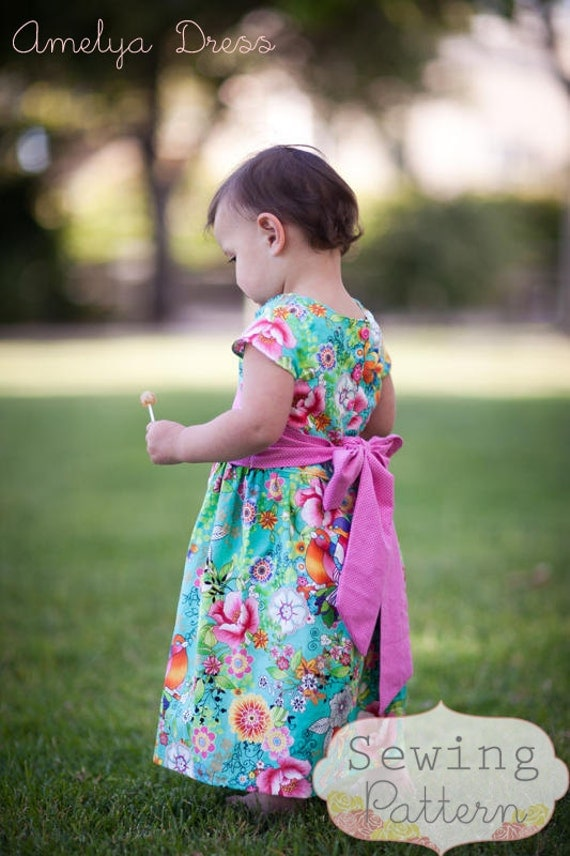 INSTANT DOWNLOAD- Amelya Dress (Size 6/9 months to Size 6) PDF Sewing Pattern and Tutorial