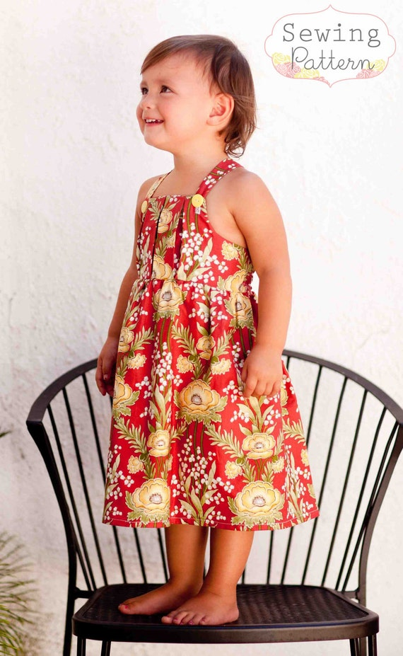 INSTANT DOWNLOAD- Elizabeth Pleated Dress (Sizes 3/6 months to 6) PDF Sewing Pattern and Tutorial