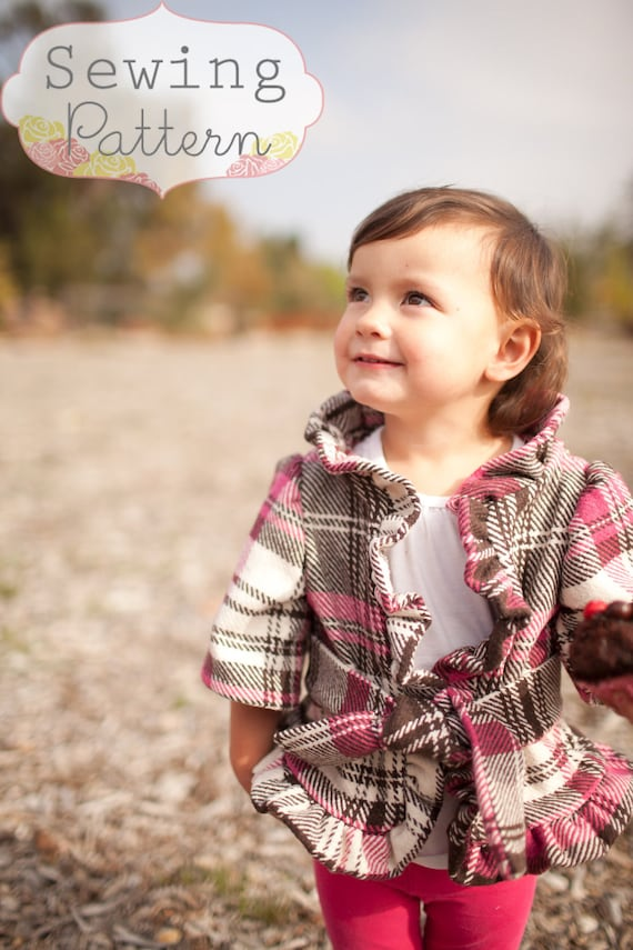INSTANT DOWNLOAD- Lainey Jacket (Sizes 12/18 months to Size 7) PDF Sewing Pattern and Tutorial