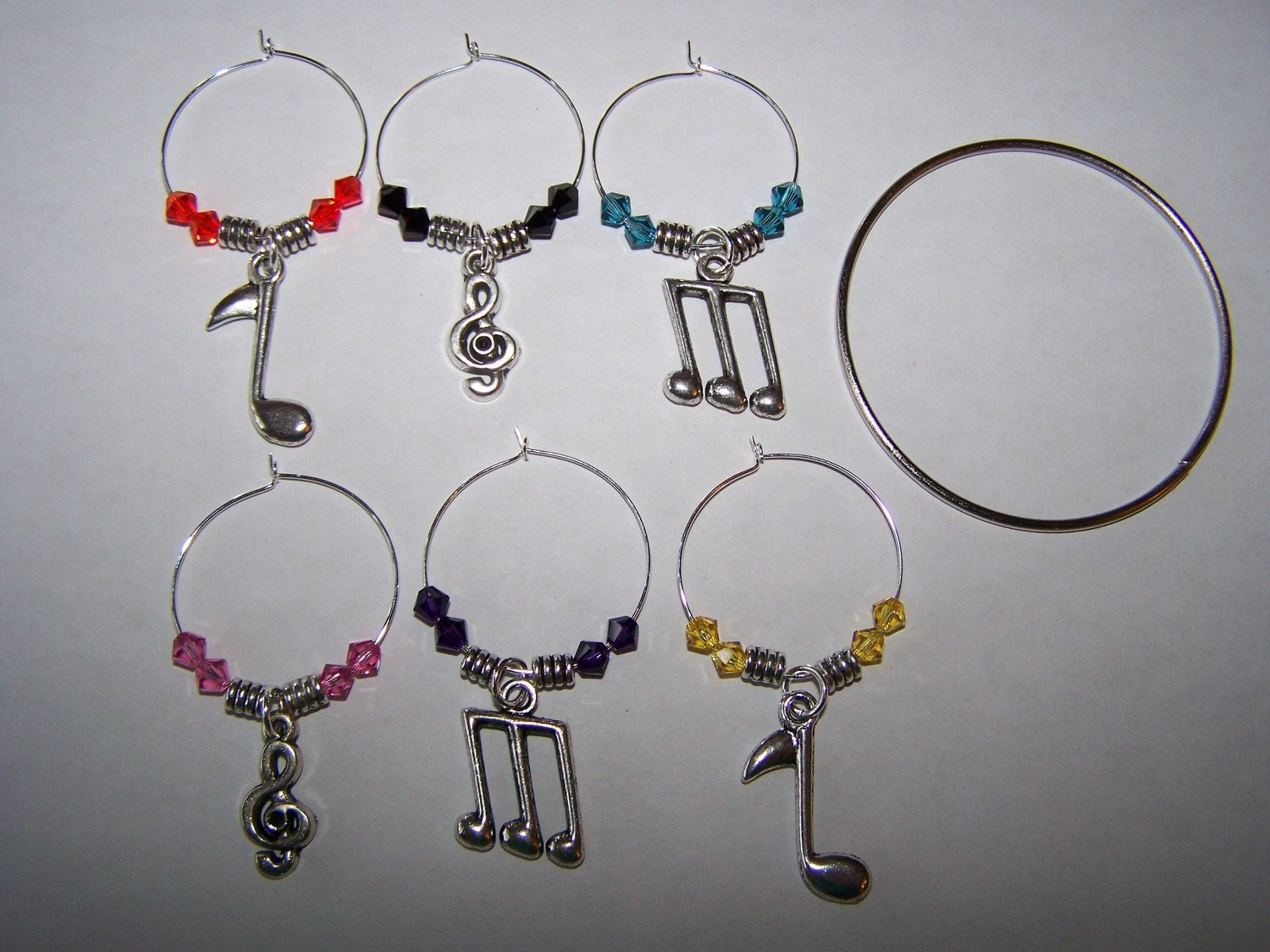 wine glass charms student by
