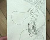 Original Drawing - I'm shy