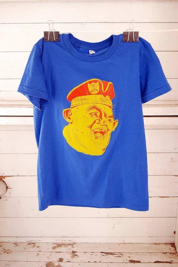 SALE! Sloth (the Goonies) screen printed tshirt. women's t-shirt in royal blue