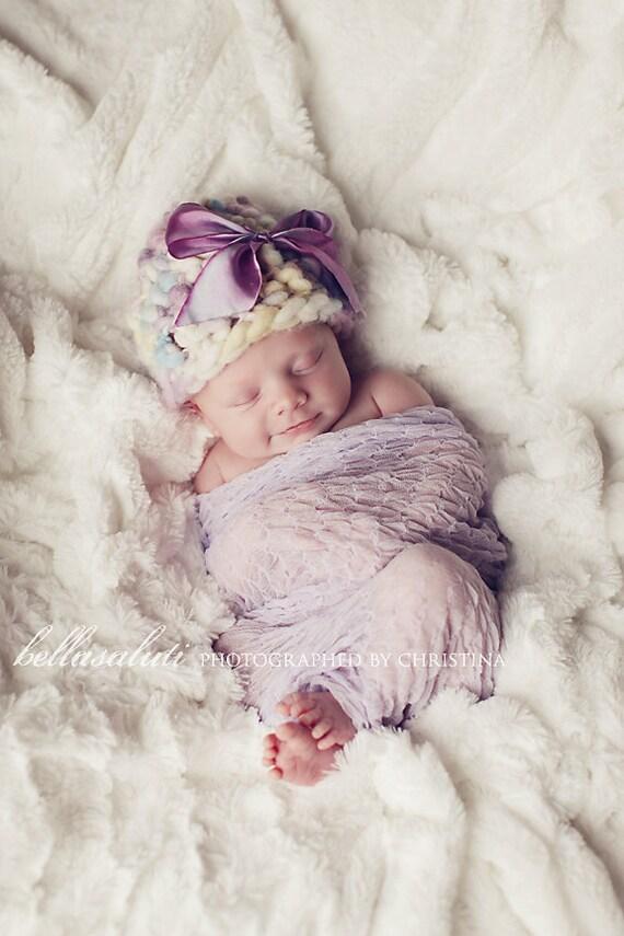 Lavender Sheer Knit Newborn Wrap - Photography Prop