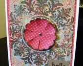 Vintage Look Medallion Card