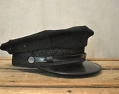 Vintage Black Miltary and Society Goods Cap