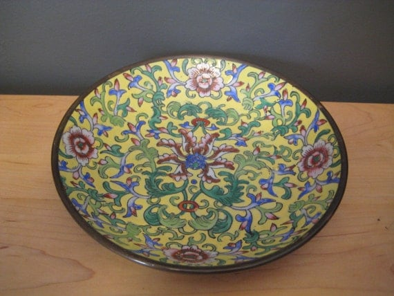 Hand Painted Porcelain Bowl for Lord and Taylor