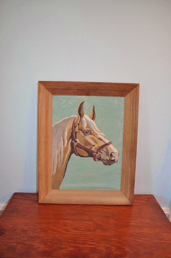 Large Framed Paint by Number Horse