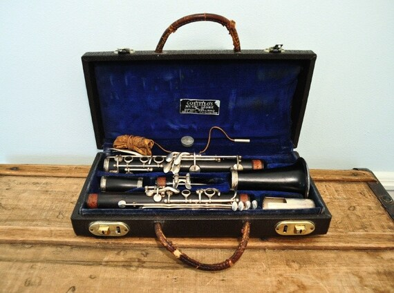 Vintage Pedler Wood Clarinet and Case  Woodwind