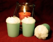 Ocean Breeze Aquamarine Votive Candle paraffin