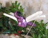 Dragonfly Ornament - Purple