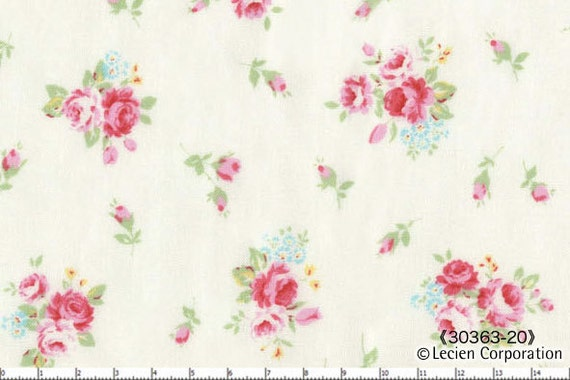 Lecien Flower Sugar White Tiny Florals fabric 30363-20 -- 1 yard, in stock
