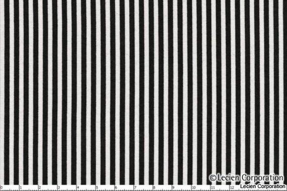 Lecien Color Basics Black & White stripes fabric 4520 BK -- 1 yard, in stock