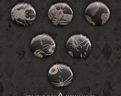 Antique Insect Buttons - Six One Inch Pins