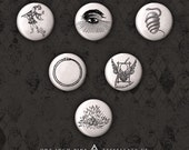Alchemy Button Set - Six One Inch Pins
