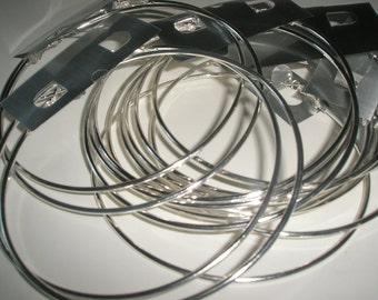 4 inches - Basketball Wives DIY Silver Hoops (6 pairs)