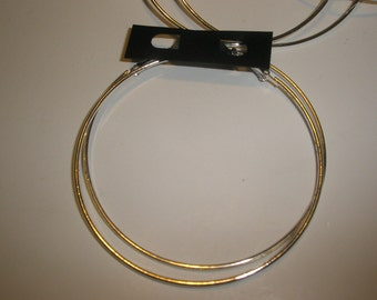 3 1/2 inches - Basketball Wives Inspired SILVER Hoop Earrings (6 pairs)