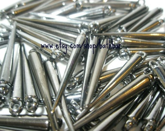51mm (Large) - Basketball Wives Inspired  PEWTER SPIKES (25 pieces)