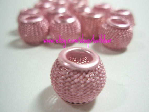 NEW - 12mm - Basketball Wives Inspired PINK Mesh Balls - 10 pieces