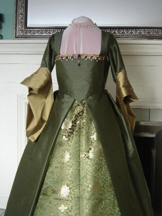 CUSTOM Renaissance Tudor French Gown Dress Costume