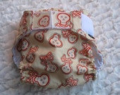 Diaper cover/ waterproof wrap. Skull and cross bones.  Size Large. 25 to 35 pounds.