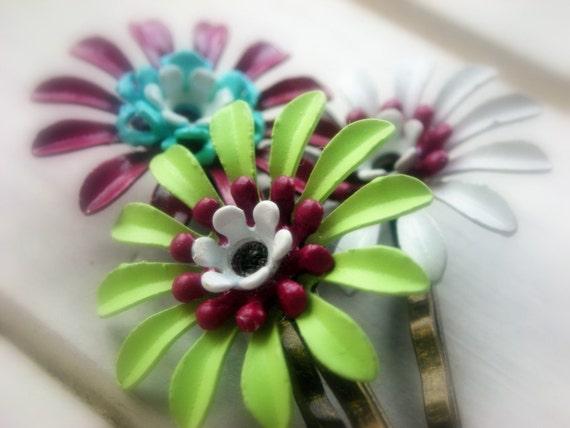 Autumn- A Set of Three Hair Pins
